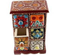 Spice Box-1453 Masala Rack Container Gift Item