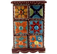 Spice Box-1456 Masala Rack Container Gift Item