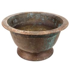 Old Brass Flower Pot For Outdoor And Indoor Decoration