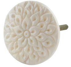 Cream Calendula Bon Bon Bone Cabinet Knobs