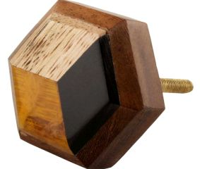 Hexagon Wooden Resin Cabinet knobs