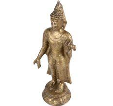 Brass Standing Buddha Statue