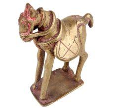 Brass Standing Horse Statue Showpiece