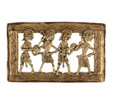 Dhokra Wall Art Hanging Of A Brass Tribal Group Dancing
