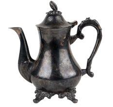 Brass Kettle Tea Pot In Black Finish