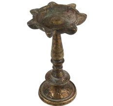 Brass oil lamp Ceremonial Lamp With 7 Wicks