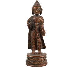 Brass Standing Buddha Statue Home Decoration