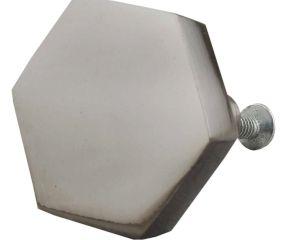 Platinum Grey Hexa Iron Cabinet Knob