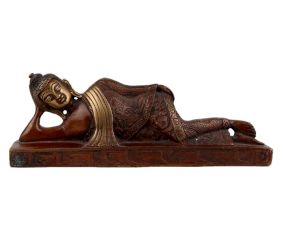 Handmade Brass Parinirvana Buddha Statue