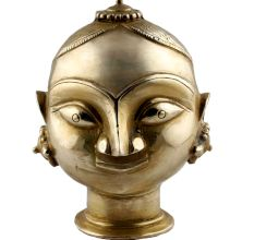Golden Brass Gauri Head Gangaur Lady Head Statue
