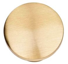 Round Shape Brass Cabinet knob  In Golden Color