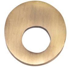 Brass Modern Cabinet Drawer Pull Oval Shape in Antique Gold Finish