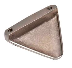 Brass Triangular Shape Knob Cabinet Drawer Knob In Brushed Silver Color