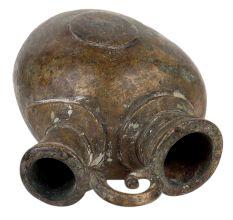 Rare Old Brass Mango Shape Hookah Pot