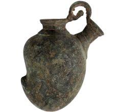 Traditional Cast Brass Hookah Base Pot In Mango Shape