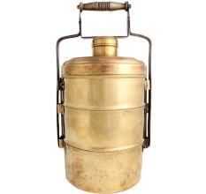 Three Compartment brass Tiffin Box Or Lunch Box