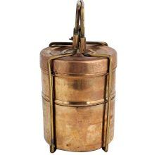 Brass Two Tier Lunch Box Tiffin Box