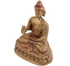 Brass Buddha Statue Sitting Meditation Statue