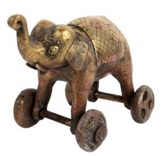 Tribal Elephant On wheel Temple Toy