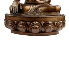 Handmade Brass Buddha Statue Meditating On Lotus Base