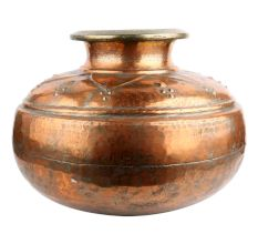 Hand Engraved Islamic Copper Pot Delicate Design
