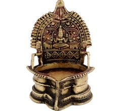 Brass Ashta Lakshmi Oil Lamp Diya