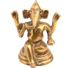 Brass Bhagwan Ganesha Statue With Long Ears