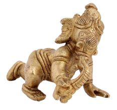 Brass Baby Ganesha Crawling Statue