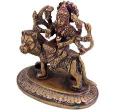 Brass Ashthabujha Durga Statue Hindu Goddess