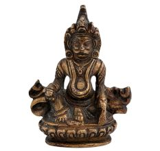 Brass Kuber God Statue Chinese Temple Art