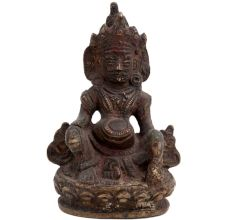 Small Brass Kuber Statue God Of Wealth