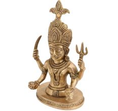 Brass Shani Dev Bust Statue For Worship
