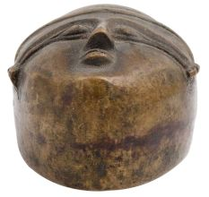 Brass Tribal Face Paper Weight