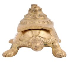 Brass Turtle Storage Box With Shri Yantra