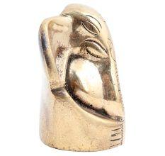 Brass Sitting Ganesha  Statue For Worship