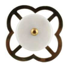 White Stone Flat Drawer Knob Online