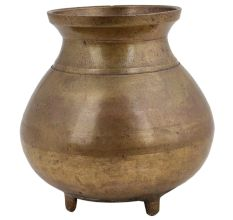 Brass Water Pot With Legs Home Decoration