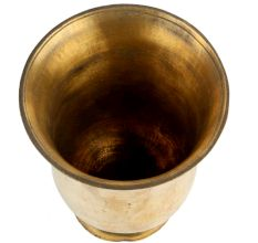 Brass cup Flower Vase On A Circular Base