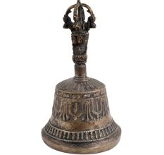 Old Used Brass Bell Buddhist Meditation Dorje Ghanta
