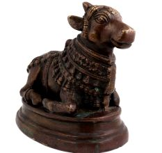 Brass Nandi Statue Sitting