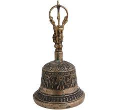 Engraved Retro Style Brass Dorje Vajra Bell
