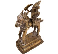 Magnificent Brass Statue Of Indian Warrior God Riding A Horse