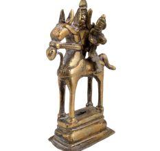 Tribal Brass Indian Warrior god Riding A Horse Statue