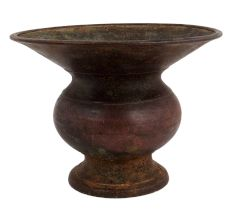 Hand Made Brass Pot Planter With Wide Mouth