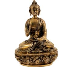 Brass Buddha Meditation Medicinal Statue