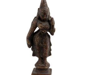 Small Brass Goddess Parvati  Standing Idol