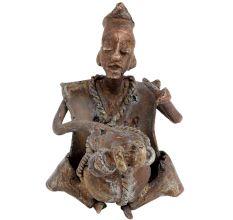 Nigeria Africa Musician Statue Playing Drum