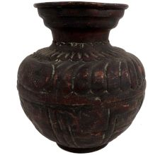 Brass Carved Traditional Holy Water Pot