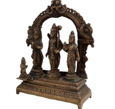 Religious Brass Ram Darbar Statue Indian Art