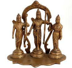 Brass Ram Sita Laxman & Hanuman Murti Rama Darbar Statue
